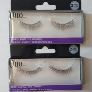 QUO Full False Eye Lashes Ombre Natural - 2 Packs